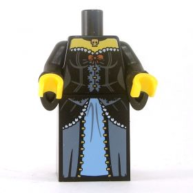 LEGO Black Dress with Corset and Bow, Choker, Wizard Sleeves