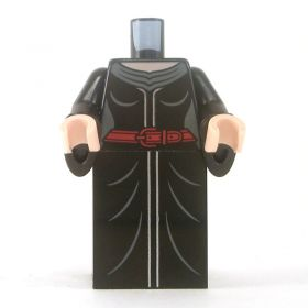LEGO Black Dress with Red Belt, Wizard Sleeves
