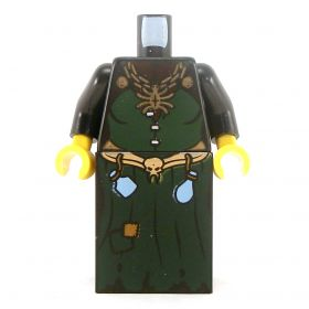 LEGO Dark Green Dress with Black Sleeves, Potions, Spider Necklace
