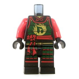 LEGO Red and Green Armor, Female, with Red Sash
