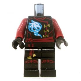 LEGO Black Keikogi with Dark Red Arms, Red Sash and Ties