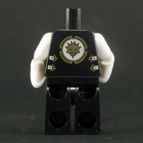 LEGO Black Keikogi with White Arms, Sash, and Trim, Wizard Sleeves