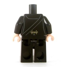 LEGO Black Overcoat with Gold Buttons