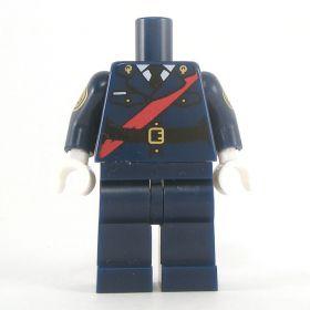 LEGO Dark Blue Uniform with Red Sash