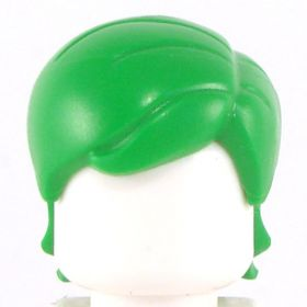 LEGO Hair, Female, Mid-Length with Side Part, Green