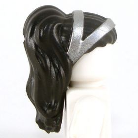 LEGO Hair, Female, Long and Straight with Silver Straps