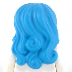 LEGO Hair, Female, Wavy and Thick, Azure Blue