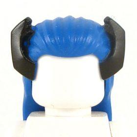 LEGO Long Blue Hair with Black Horns