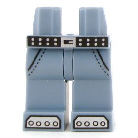LEGO Legs, Jeans with Studded Belt, Steel Toes on Feet