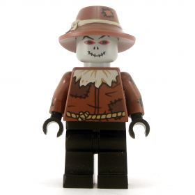 LEGO Scarecrow, Gray Head with Stitched Mouth