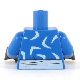 LEGO Torso, Blue, White V Pattern