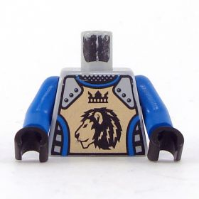 LEGO Torso, Blue Shirt, Armor with Lion and Crown