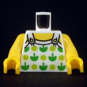 LEGO Torso, White Top with Green Apples and Lime Spots