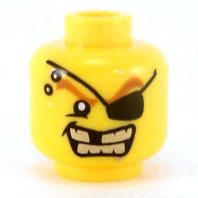 LEGO Head, Eye Patch, Gold Teeth