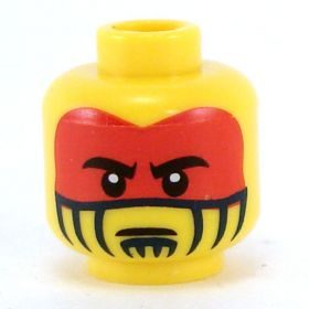 LEGO Head, Red and Black Face Paint