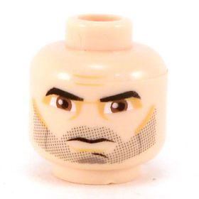 LEGO Head, Stubble, Brown Eyes