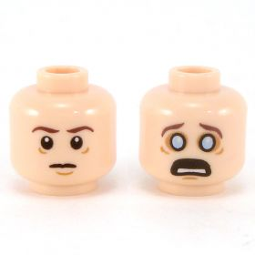 LEGO Head, Serious / Scared with Wide Eyes