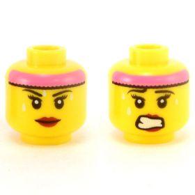 LEGO Head, Female, Pink Headband