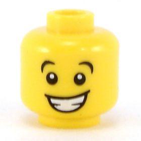 LEGO Head, Wide Open Eyes, Large Smile