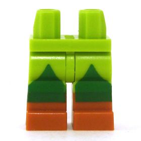 LEGO Legs, Lime and Green Pants with Brown Boots
