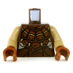 LEGO Brown Leather Armor with Spiked Design