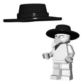 "LEGO Very Wide Brim ""Plague Doctor"" Hat by Brick Warriors"