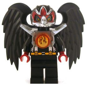 LEGO Aarakocra or Wereraven, Black and Silver