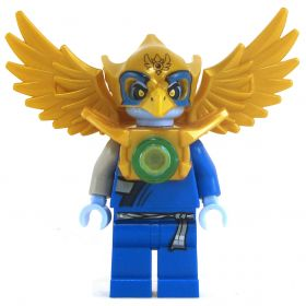 LEGO Aarakocra - Blue and Gold, Armored Right Shoulder