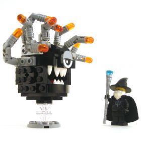 LEGO Beholder, Black with Gray Eyestalks, Gray Eyelid