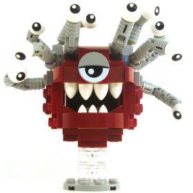 LEGO Beholder, Dark Red with Gray Eyestalks, White Eyes