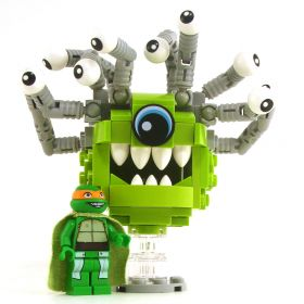 LEGO Beholder, Lime Green with Gray Eye Stalks