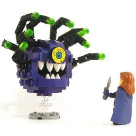 LEGO Beholder, Purple with Black Eye Stalks, Crazy Eye