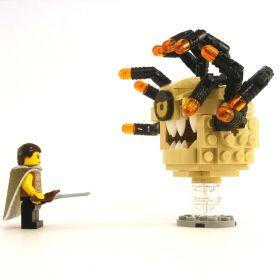 LEGO Beholder, Tan with Black Eye Stalks, Angry Eye