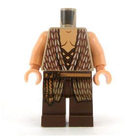 LEGO Tan Woven Shirt, Brown Pants, Medium Dark Flesh