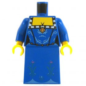 LEGO Fancy Blue Dress with Flowered Pattern on Bottom