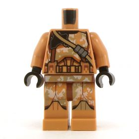 LEGO Complete Outfit with Dark Tan and Brown Camouflage Armor