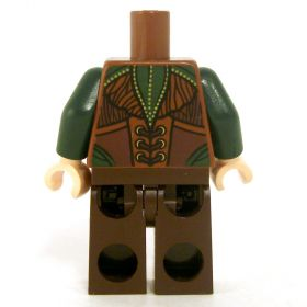 LEGO Green and Brown Leather with Leaf Patterns