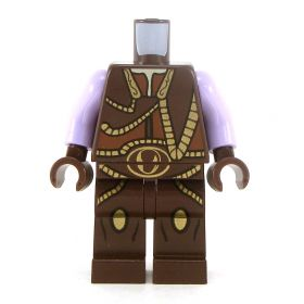 LEGO Complete Outfit, Fancy Brown Vest, Lavender Arms