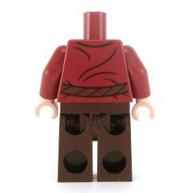 LEGO Dark Red Shirt, Dark Brown Legs with Keys