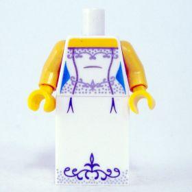 LEGO White Dress with Fancy Silver Pattern