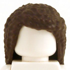 LEGO Hair, Female, Long with Small Curls, Dark Brown