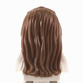 LEGO Hair, Female, Long and Braided in Front, Dark Brown