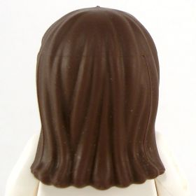 LEGO Hair, Female, Long and Straight with Bangs, Dark Brown