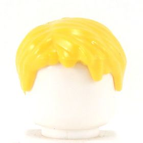 LEGO Hair, Short Tousled with Side Part, Yellow