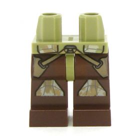 LEGO Legs, Dark Brown with Green Camouflage