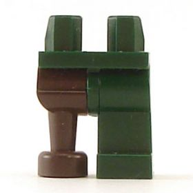 LEGO Legs, Dark Green, with Pegleg