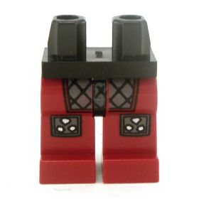 LEGO Legs, Dark Red with Scale Armor
