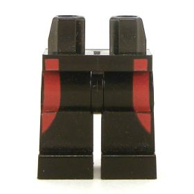 LEGO Black Legs with Red Side Pattern