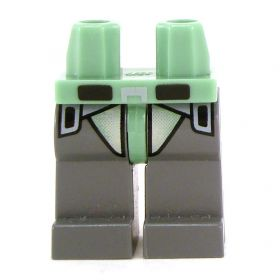 LEGO Legs, Sand Green and Dark Gray