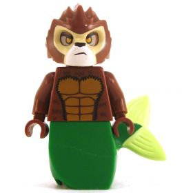 LEGO Sea Cat / Sea Lion, Reddish Brown with Green Tail